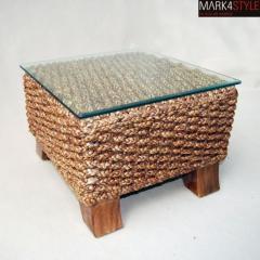 Ekskluzywny stolik kawowy hiacynt wodny z szybą
