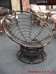 Fotel bujano-obrotowy Papasan linia DE LUXE 23712