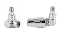 Zestaw zaworów termostatyczny CHROM prawy
