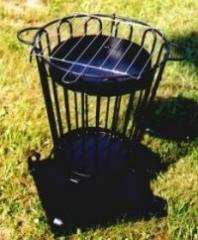 Koksownik ogrodowy z siatką do grillowania