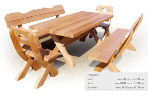 Meble ogrodowe drewniane M4