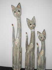 3 koty drewniane