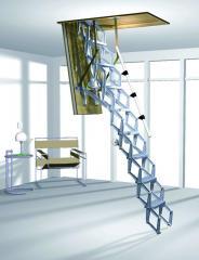Nożycowe schody strychowe Roto Elektro