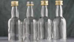 Butelki szklane przezroczyste