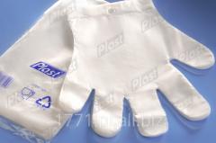 Rękawice foliowe jednorazowe z atestem do
