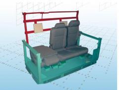 Pojemnik specjalistyczny do transportu foteli