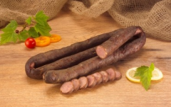Products boiled-smoked sausages