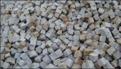 Kostka granitowa szaro ruda, produkty z granitu,