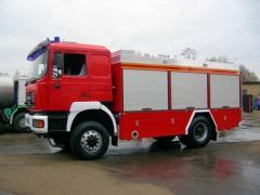 Ciężkie samochody ratowniczo - gaśnicze na różnych