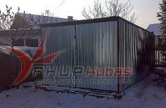 Garaż blaszany typowy 3x5