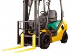 Straddle loader, diesel engine