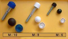 Plasikowe osłony na śruby i nakrętki