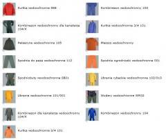 Ubrania przeciwdeszczowe ostrzegawcze