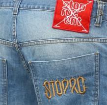 Spodnie Jeans Stoprocent SJ Crest Niebieskie