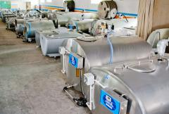 Baths for cooling milk
