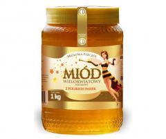Królowa pszczół miód wielokwiatowy 1kg