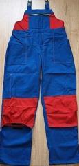 Spodnie robocze dwukolorowe szyte z mocnych,