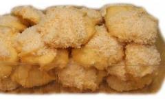 Ciastka rafaello wyroby piekarnicze z czekolada i
