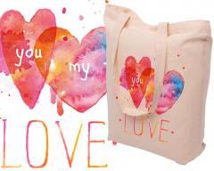 Påsar av material, väskor av jute, linne, val av färger