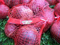 Buraki czerwone pakowane w siatki
