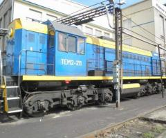 Diesel-hydraulic hanging locomotives