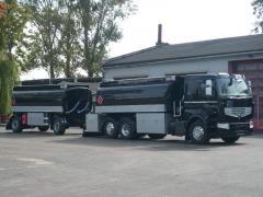 Tanker trucks on chassis