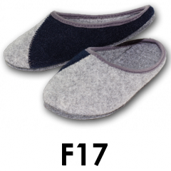 Men's shoes made of felt to wear at home