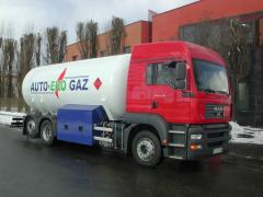 Tank trucks for liquefied gas