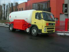 Tank trucks for compressed gas
