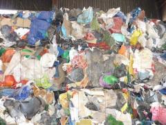 Waste of plastics