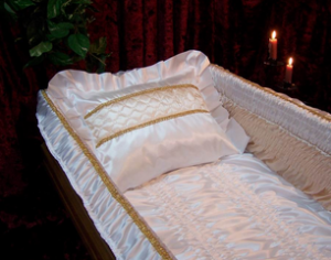 Bed for coffins