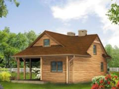 Domy z drewna z poddaszem