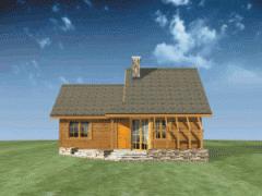 Drewniane domy z poddaszem