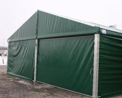 Hale aluminiowe, hangary namiotowe magazynowe, wiaty do przechowywania z dachem dwuspadowym.