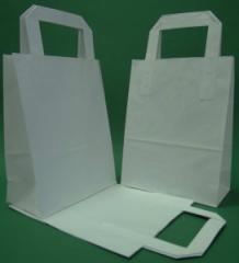Papierbeutel mit Flachgriff 18x80x23 cm weiß