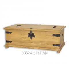 Kufer z drewna sosnowego