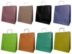 Papiertaschen mit Griffschraube 30x17x34 cm - 100