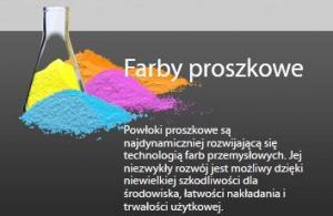 Farby proszkowe.