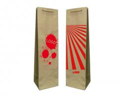 Les sacs en papier éco prestige + 1 + 0 print 11x9x40 cm - 5000 unités.