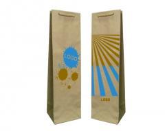 Papír táskák eco nyomtatás presztízs + 2 + 0 11x9x40 cm - 400 db.