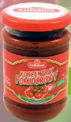 Przetwory z pomidorów, koncentrat pomidorowy, ketchup,
