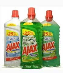 Means - liquids for cleaning of Ajax, Astonish,