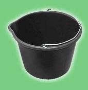 Plastic rectangular buckets