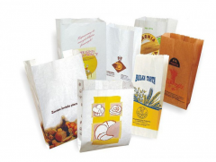 Paper bags with square bottom