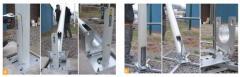 Posts and mast illuminating zinc-coated