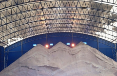 Anti-ice-crusted salt
