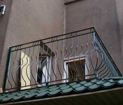 Wrought balconies