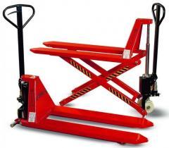 Hand pallet truck with scissor lift