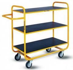Wózki platformowe z półkami