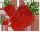 Świeże truskawki.